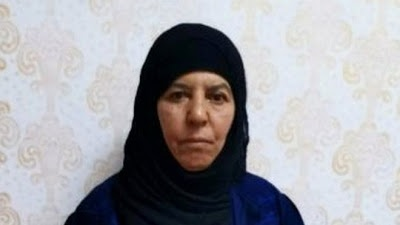 Sister Of Dead ISIS Leader, Abu Bakr Al-Baghdadi Captured By Turkish Forces (Photo)