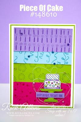 Piece of Cake Stamp Set, Birthday Background Stamp Set, Cake Builder Punch, Rick Adkins, Stampin' Up