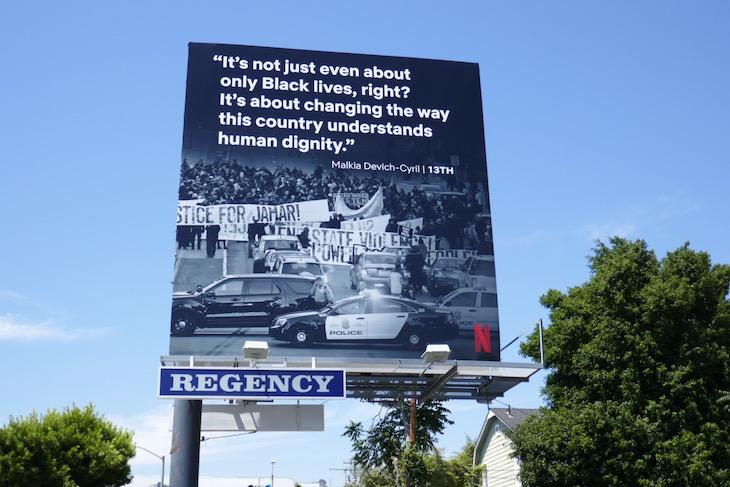13th Black Lives Matter Netflix billboard