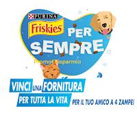 Logo Concorso ''Friskies per sempre'' : vinci forniture per tutta la vita del tuo cane o gatto!