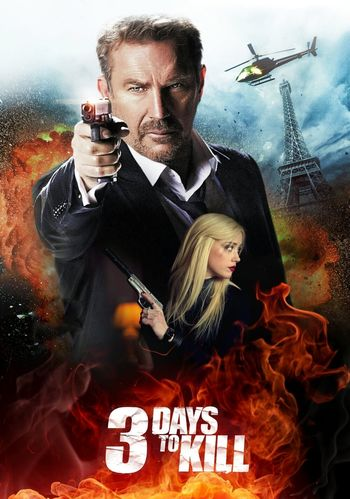 3 Days To Kill 2014 Hindi BluRay 720p & 480p Dual Audio [Hindi & English] HD | Full Movie