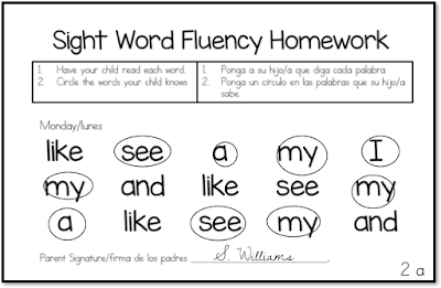 sight word fluency:Increase you students reading fluency