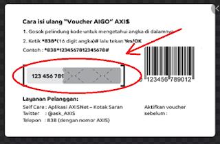 kode voucher kuota internet axis aigo