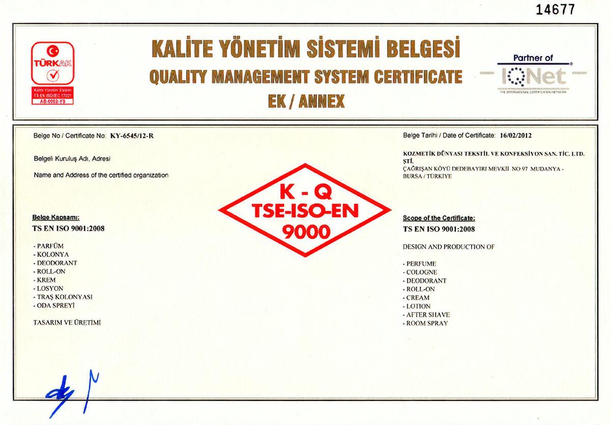 TSE 9001:2008