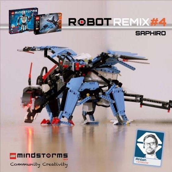 saphiro the blue dragon robot remix 4 the nxt step is ev3
