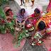 अनुमंडल के विभिन्न गांव कस्बों में लोक परंपरा जितिया व्रत पूजा की गई