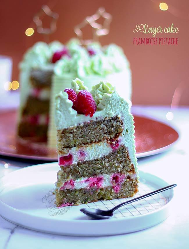 layer cake anniversaire pistache