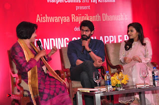 Aiswarya Rajinikanth Dhanush Standing on an Apple Box Launch Stills in Hyderabad  0061.jpg