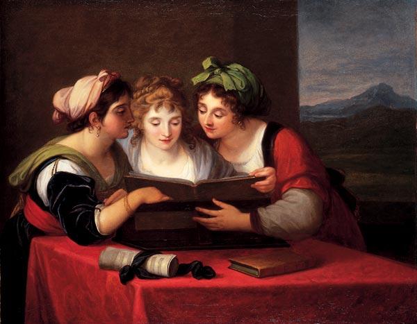 Angelika Kaufman Три певицы