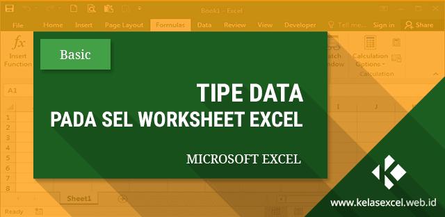 Tipe Data / Jenis Data Pada Microsoft Excel