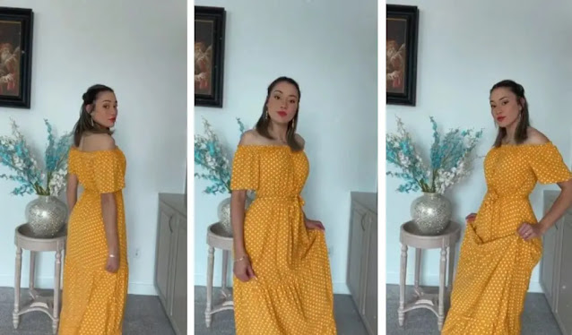 KIRUNDO Shoulder Sleeves Pleated Dresses - REVIEW