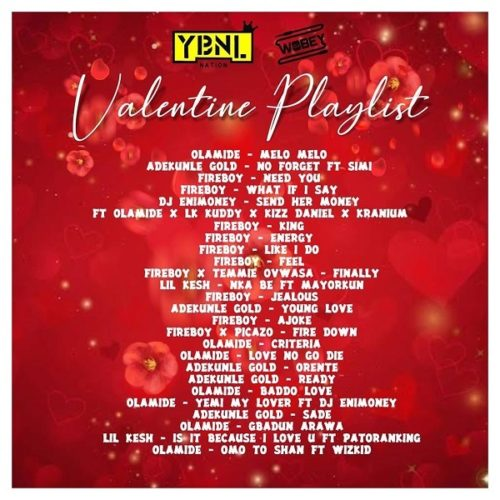 "Mixtape: DJ Enimoney – (YBNL) ""Valentine's Playlist"" Mix"