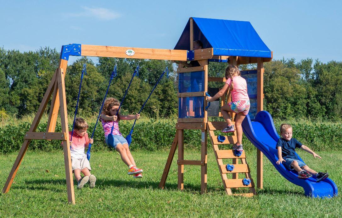 Backyard Discovery Aurora Wooden Cedar Swing Set $349 (Reg ...