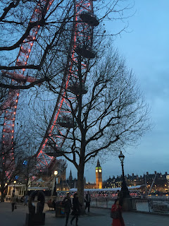 London Eye and Big Ben at dusk