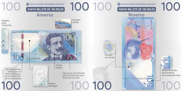Medidas de seguridad de nuevos billetes de S/ 100