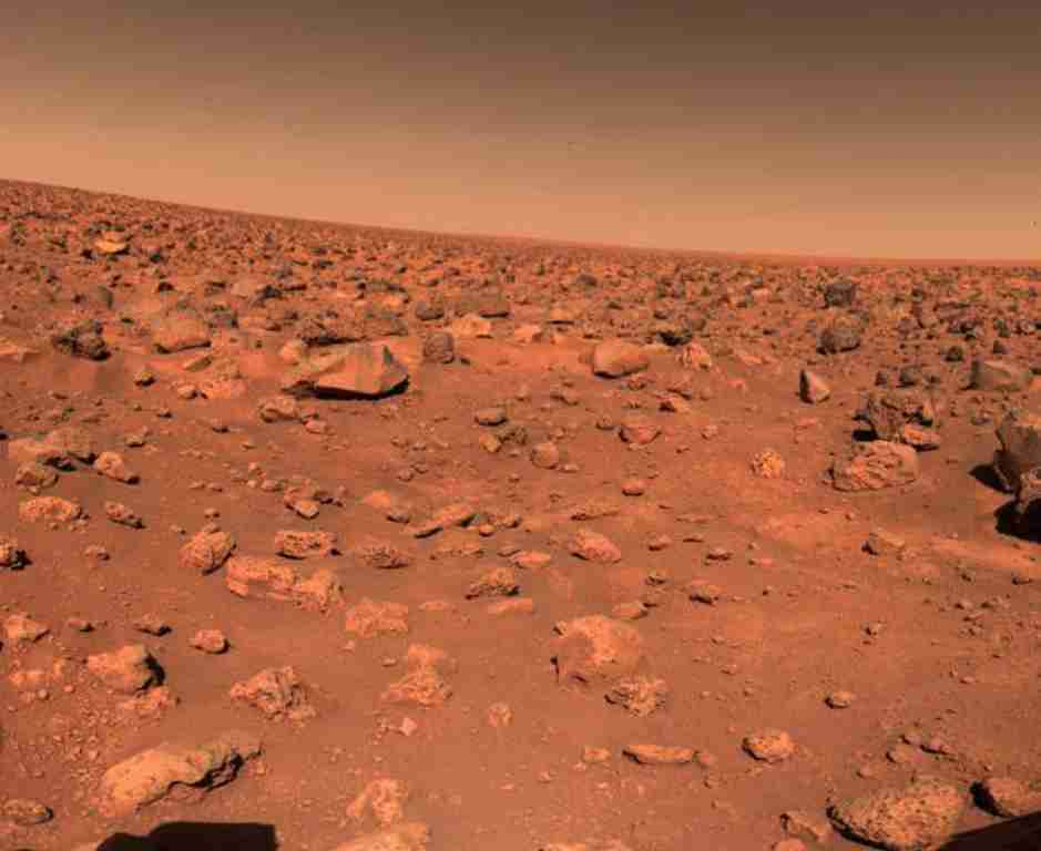 Mars' red surface