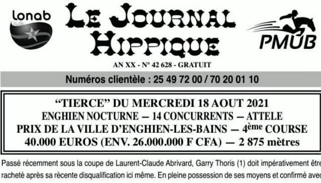 programme quinté Pronostic mercredi 18/08/2021