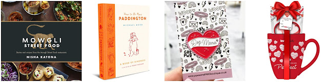 Mowgli recipe book cover, Paddington cover, Love Actually mug Dog Mama pin,
