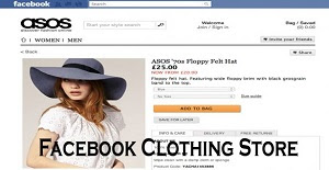 Facebook Clothing Store – Facebook Marketplace