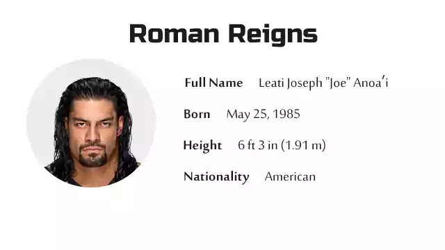 Roman Reigns Biography History Net Worth And More