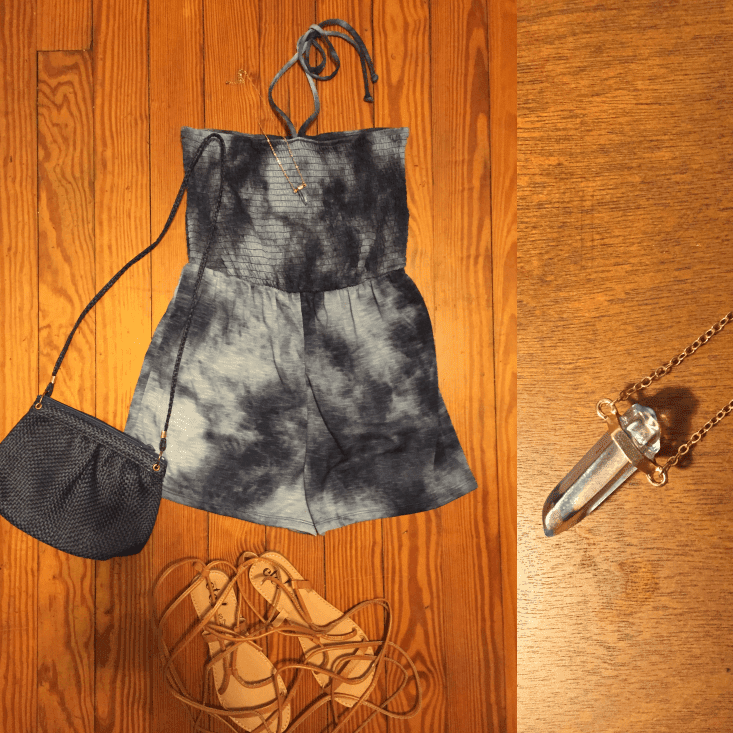 tie dye romper outfit of the day summer 2018
