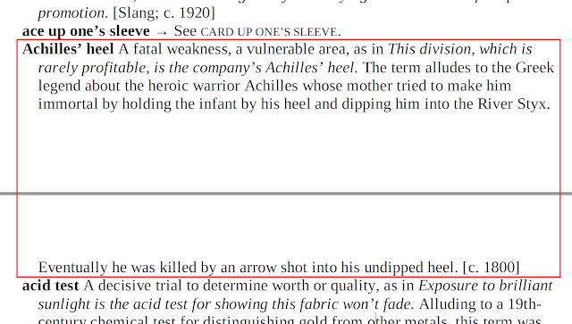 Arti Achilles' Heel