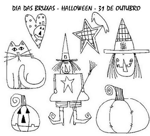 Pedagogas Da Paz Dia Das Bruxas Imagens Colorir Halloween