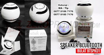 Souvenir speaker Bluetooth bulat BTSPK01, Bluetooth speaker unik, souvenir Bluetooth speaker, souvenir premium