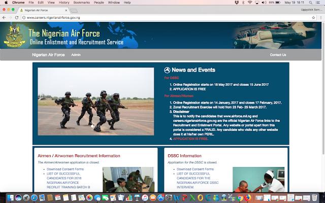 Nigerian Air Force Recruitment Portal