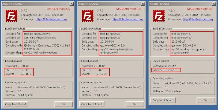 Warning: Malicious version of FTP Software FileZilla