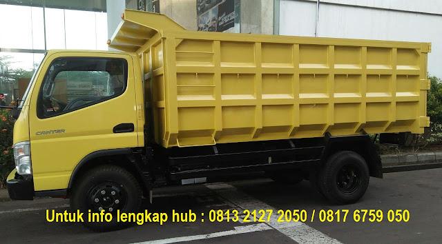 paket kredit dp kecil dump truck mitsubishi canter 2019