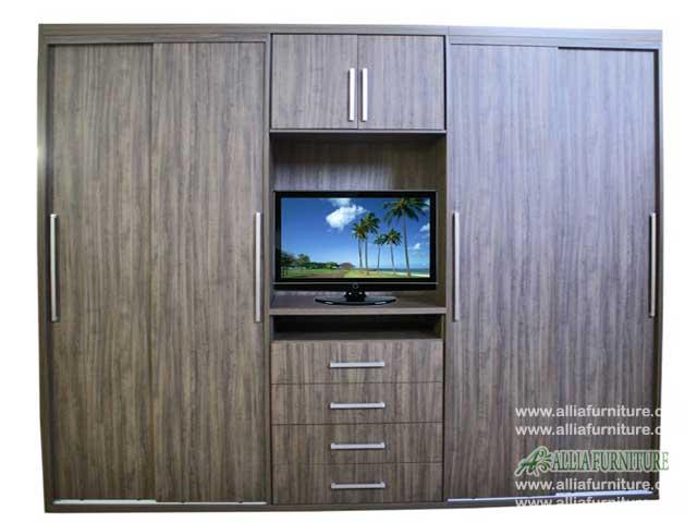 lemari minimalis baju unit tv java