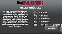 PARTEI Melkt Brüssel Anleitung