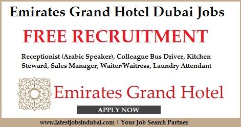 Emirates Grand Hotel Dubai Jobs