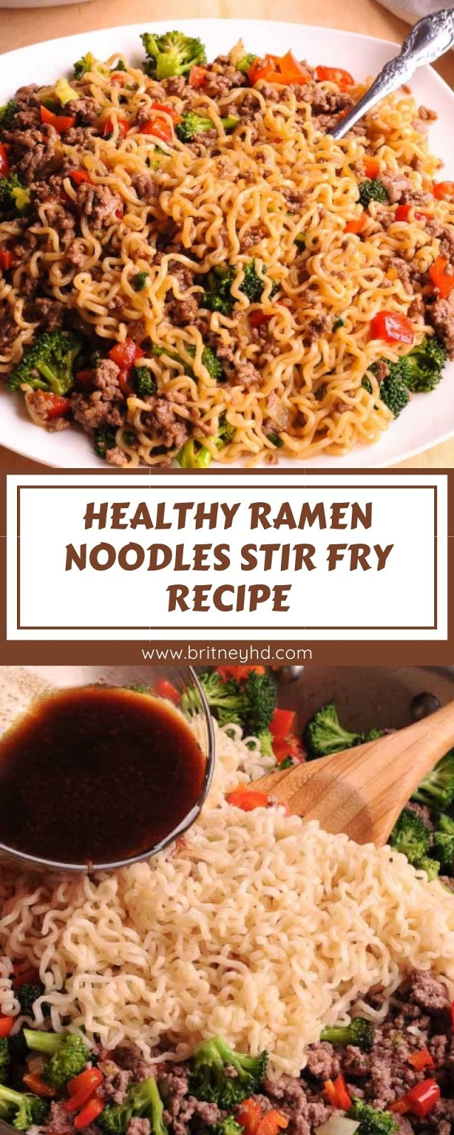 HEALTHY RAMEN NOODLES STIR FRY RECIPE