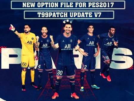 PES 2017 New Option File Update For T99 Patch V7