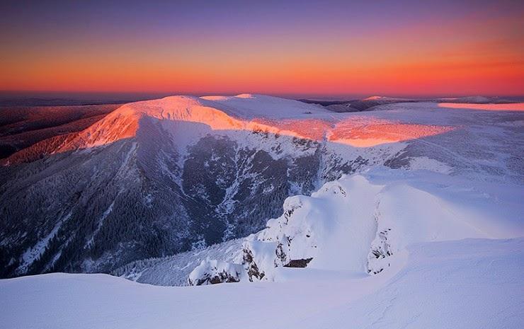 Beautiful Winter in The Karkonosze Mountains Poland