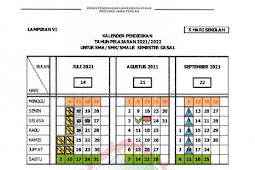 Kalender Pendidikan (Kaldik) 2021/2022 Provinsi Jawa Tengah (PDF)