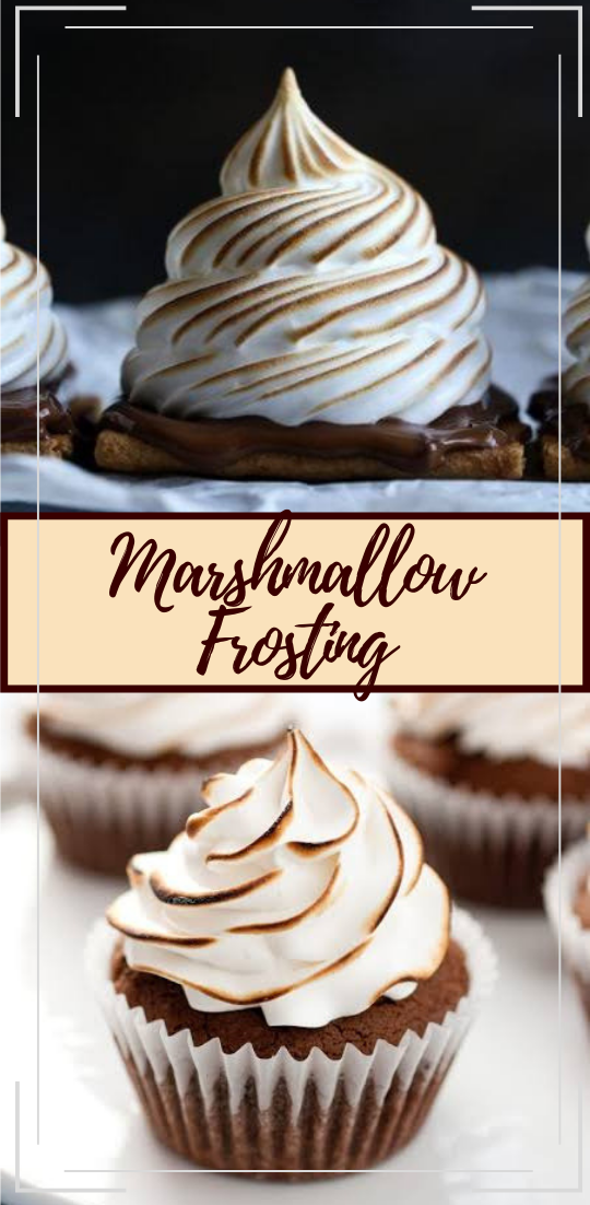 Marshmallow Frosting #desserts #cakerecipe #chocolate #fingerfood #easy