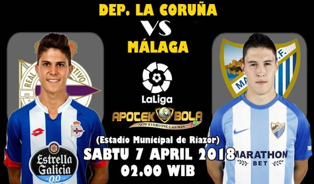 Prediksi Deportivo La Coruna vs Malaga 7 April 2018