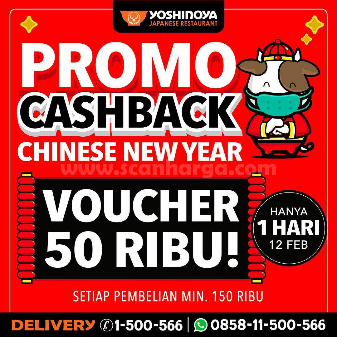 YOSHINOYA Promo Cashback IMLEK! GRATIS Voucher Rp 50.000