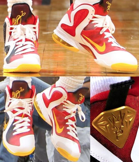 designer fashion cdb5c 974c9 ... His Nike Lebron 9 MVP Sneakers he wore yesterday during game one of the Pacers  VS Heat game which they won. Peep a bunch more more images on feet after ...