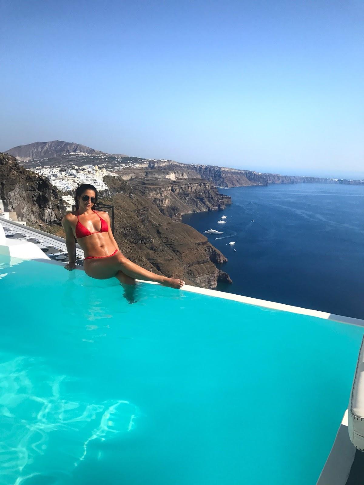Infinity Pools Santorini Greece