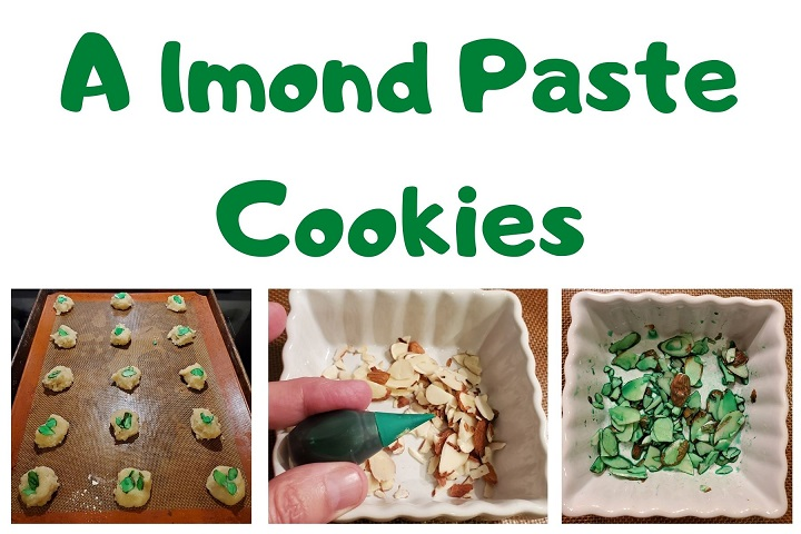 this is a collage on how to make almond paste cookies