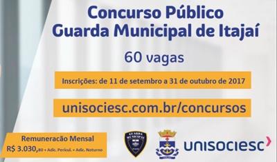 concurso Prefeitura de Itajaí SC 2017