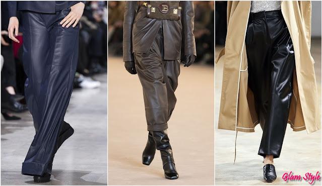 pantaloni di pelle tendenze 2020