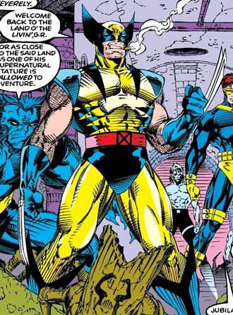 El traje clásico de Wolverine en los años 90