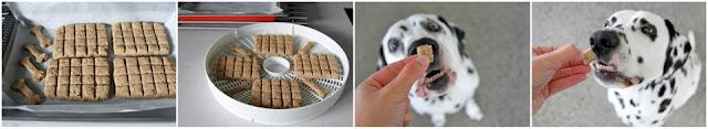 Baking and dehydrating homamde dog treats