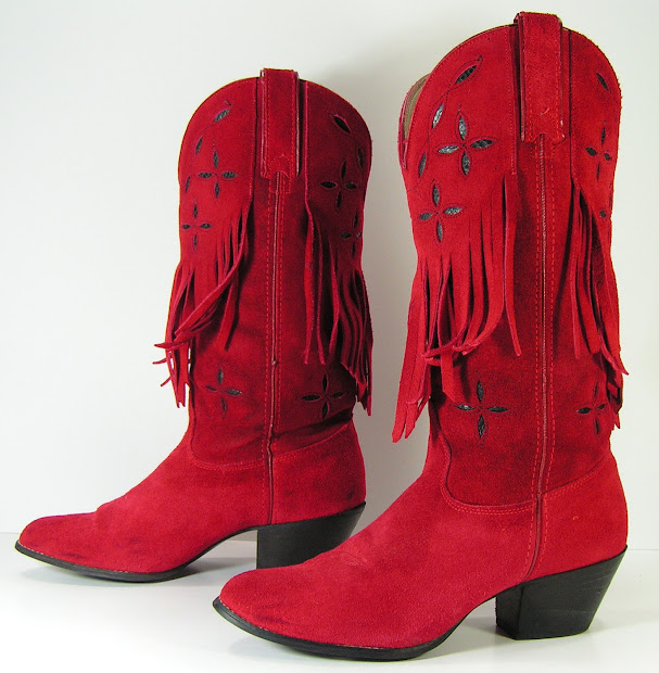 Boots Costume Pic Cowboy Red