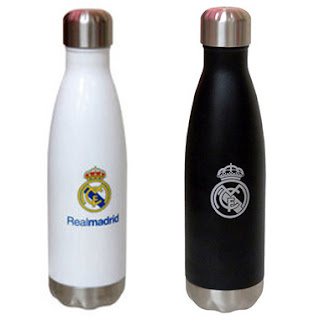 termo, botella de agua, real madrid,